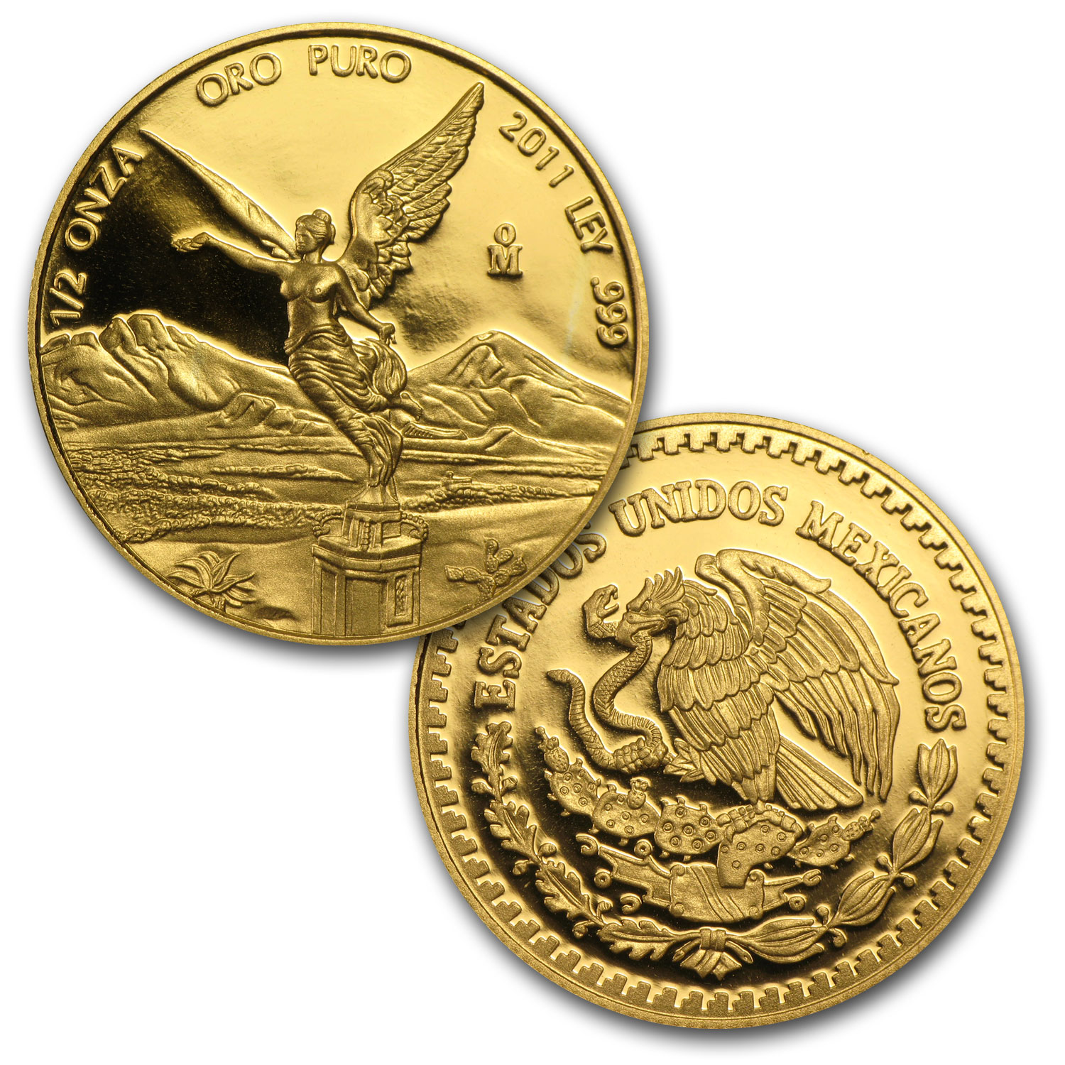 2011 1.9 oz Gold Mexican Libertad Proof 5-Coin Wood Box Set